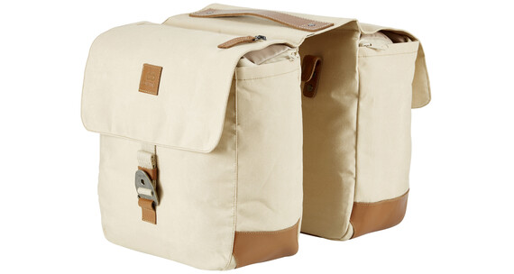 Creme Rear Rack Twins Bag 12+12 l creme beige